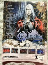 Castlevania Harmony of Dissonance Poster Ad Print Nintendo Game Boy Advance