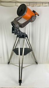 Vintage Celestron C8 Telescope With Tripod Stand and Tons of Lenses Accessories