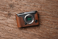 Genuine Real Leather Half Camera Case Bag Cover for FUJIFILM XE3 X-E3 Brown