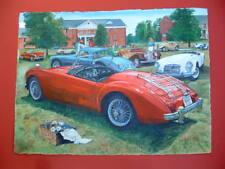 MGA MG-TC MG-TD MG-TF MGB British sports car original painting