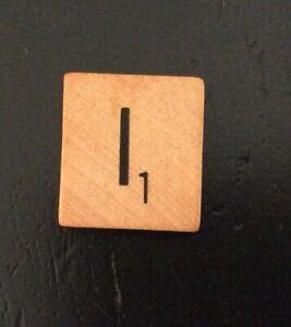Scrabble Tile Replacement Letter I .