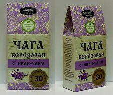 Chaga Tea mit Ivan Tee 30Paketfilter Weidenröschen BIO Pilz Чага ИВАН ЧАЙ Кипрей