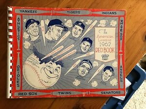 Original 1962 American League Red Book, VG/EX Condition, Free US Shipping