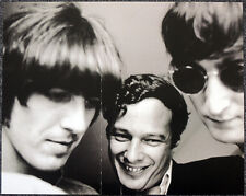THE BEATLES POSTER PAGE . BRIAN EPSTEIN & JOHN LENNON & GEORGE HARRISON . G28