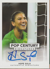 Hope Solo 2013 Leaf Pop Century autograph auto card BA-HS1