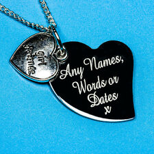 Personalised Girl Friends Name Charm Pendant Necklace Jewellery Present Gift