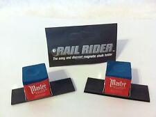 The Rail Rider Magnetic Pool Chalk Holder w/Chalk