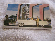 Vintage Las Vegas Postcard Cadillac Convertible The Sands