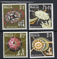 Malta: 1974 Christmas Set of 4 Stamps SG 532-5 MNH SEE SCAN POSTED FAST AND FREE
