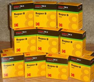 Kodak Tri-X 7266 Super-8 B&W Reversal Film - NEW Fresh from Kodak SEE VIDEO