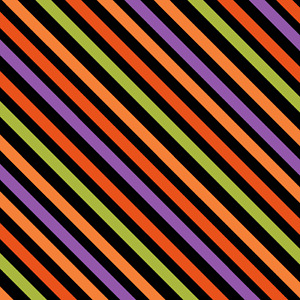 RTC Holiday Halloween Multicolour Stripe Fabric Sewing Cotton Fabric 1/2 Yard