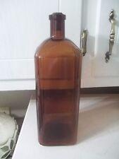 ANTIQUE  Veronica Mineral Water BOTTLE ESTATE FIND AMBER