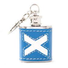 Scottish 1oz Scotland Saltire Stainless Steel Keyring Hip Flask Wedding Gift