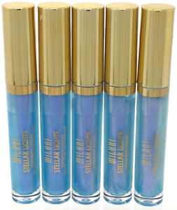 (5) Milani Stellar Lights Holographic Lip Gloss New Sealed 02 - Iridescent Blue