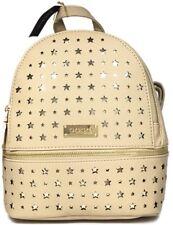 NEW Bebe gold stars Women's Trinity MINI backpack beige eggshell