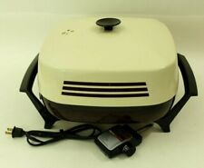 """West Bend 12"""" Square Electric Skillet with Sensa Temp Control Vintage Almond"""
