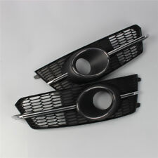 Pair Front Foglight ACC Grille Cover Grill For AUDI A6 17-18 S6 S-Line C7.5 L+R