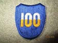 WWII US Army 100th Infantry Division patch cut edge
