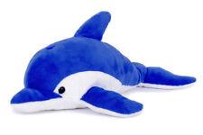 DELFIN Stofftier  Plüschtier Plüsch-Kuscheltier Delphin blau 33cm  NEU