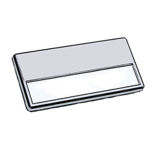NAME BADGE 34 X 70 MM (1.34'' X 2.76'') WITH MAGNETIC CLIP (10 PCS/PACK)