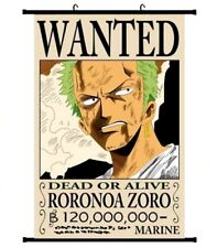 Großes One Piece Zoro WANTED Wallscroll Stoffposter Anime Manga Poster 60x90CM