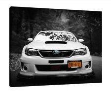 Subaru Impreza WRX Sti - 16x12 Inch Canvas Wall Art - Framed Picture Print