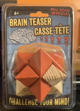 Brain Teaser 3D Star Wooden Puzzle Toy - Challenge your Mind! - NIP