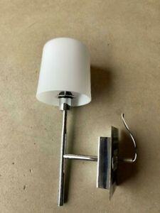 VIBIA 2 Single Wall Light Traditional Polished Nickel Rod White Matt Glass Shade