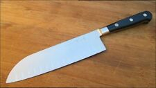 Pre-Owned Vintage Henckels Forged Stainless Santoku Chef Knife w/Granton Edge
