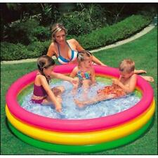 Piscina hinchable 3 aros 147 x 33 cm inflable niños infantil