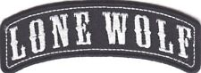 Lone Wolf Embroidered Rocker Biker Patch Iron On Sew On