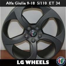 Cerchio Lega Nuovo e Originale Alfa Romeo Giulia → 9x18 ET34 5x110, Matt Black