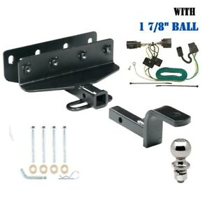 """Class 2 Trailer Hitch Package 1 7/8"""" Ball for 2007-2017 Jeep Wrangler  1-1/4"""" Sq"""