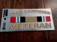 U.S Military Iraq Campaign Veteran Window Decal Bumper Sticker