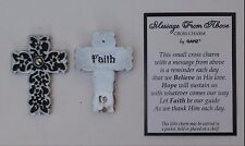 t Faith Cross MESSAGE FROM HEAVEN pocket cross charm carry with you