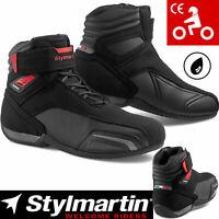 STYLMARTIN VECTOR Schuhe schwarz anthrazit rot wasserdicht Mesh CE Protektoren