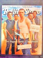 Mint ROLLING STONE #875 August 13, 2001 'N SYNC Justin TIMBERLAKE Ringo STARR