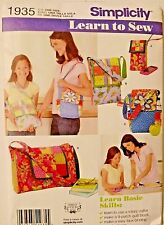 Simplicity Learn to Sew Patchwork Quilting Bags Sewing Patterns 1935  UNCUT