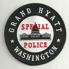 WASHINGTON`S GRAND HYATT SPECIAL POLICE POLICE PATCH /