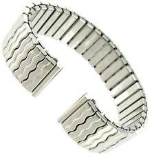 16mm Speidel Twist-O-Flex Silver Tone Straight End Stainless Wavy Watch band