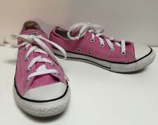 Converse Girl's Pink Canvas Lace Up Tennis Shoes Size 3