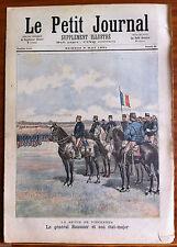 Le petit Journal illustré 9/05/1891; La revue de vincennes, Général Saussier