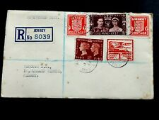 Jersey 1944 Registered Cover with  mixture of GB & Jersey & Guernsey stamps
