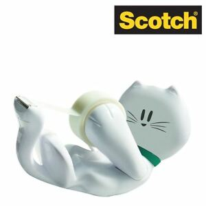 Scotch Cat-810 Cat Tape Dispenser With 1 Roll Scotch Magic Tape 19mm x 8.89m