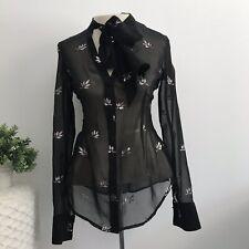 nastygal Sheer Black Blouse Size XXS