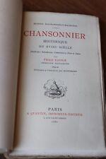 1880  Chansonnier Historique XVIIIè  Eau-forte Rousselle Clairambault  Tome IV