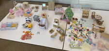 Huge Lot Of Calico Critters Epoch Furniture & Bedroom Bathroom Accessories BIG