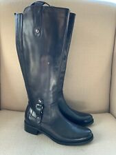 Blondo Venise Black Leather Wide Calf Tall Riding Boots size 7M  NWOB