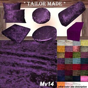 Mv14 Voilet Crushed Velvet Seat Patio Bench 3D Box Cushion Bolster Cover/Runner