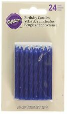 Wilton 24 Pk BLUE Birthday Candles Celebration Occasion Party Cake Decorations